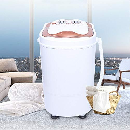 Mini lavadora móvil,Lavadora de viaje,Lavadora automática,Eléctrica Lavadora secadora ,Dispositivo limpiador,Lavadora automática de plástico,Lavadora Portátil Carga superior,6kg (Ca.54 x 35 x 34 cm)