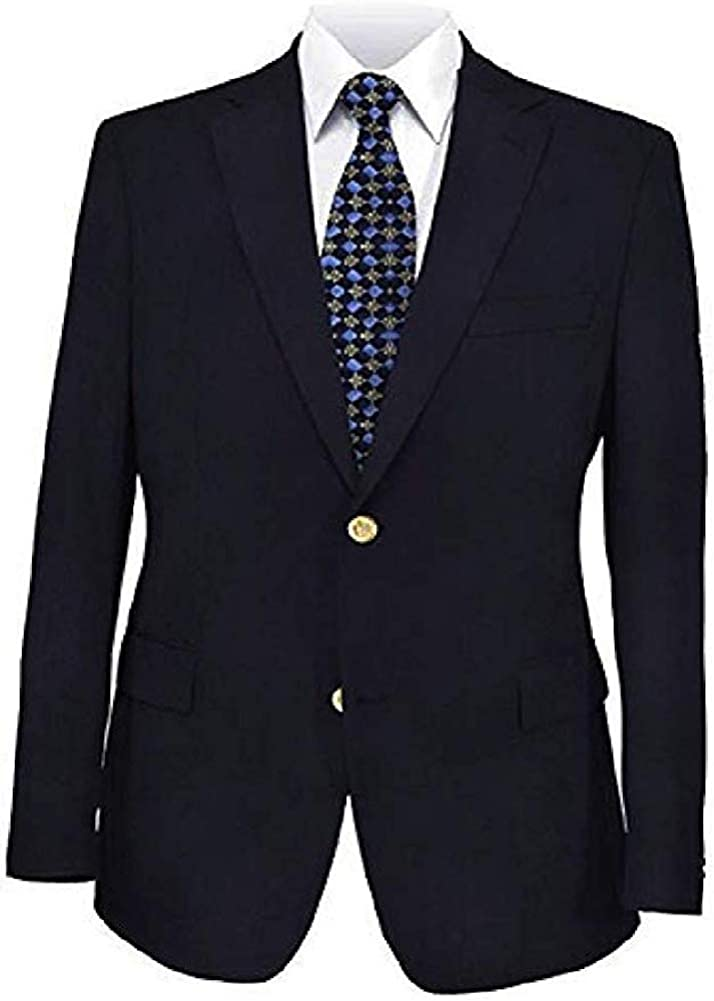 Big and Tall Navy Premium All Wool Classic Blazer to Size 72 in Portly, Regular, Short, Long, and Extra Long Sizes