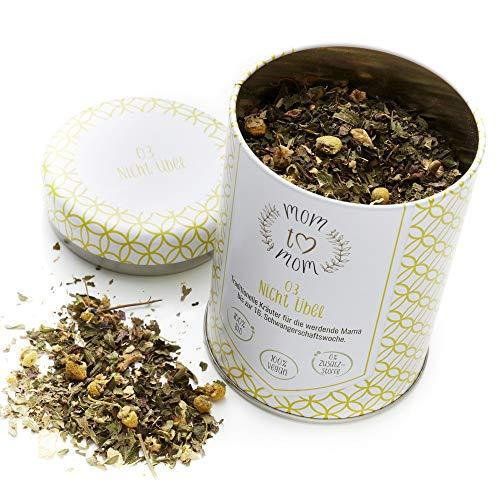 Mom to Mom® Nicht Übel - Schwangerschaftstee 1. Trimester (Bio-Zertifiziert) Übelkeit und Unwohlsein - Praktische Dose (nachfüllbar) - 50g loser Bio Qualitäts Tee