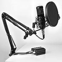 Mars Gaming MMICKIT, Micrófono Profesional+6 accesorios, XLR a jack 3.5mm, Negro