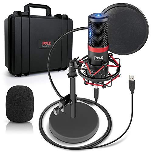 USB Microphone Podcast Recording Kit - Audio Cardioid Condenser Mic w/ Shock Mount...