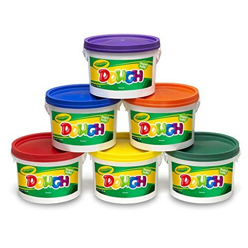 Crayola BIN570016 Super Soft Modeling Dough, Assorted Colors, Pack of 6