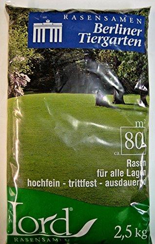 Lord Rasensaat Rasensamen Berliner Tiergarten 2,5 kg für 80 m²
