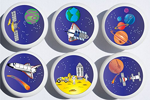 Outer Space Drawer Pulls/Space Ship Cabinet Drawer Knobs/Childrens Room Decor