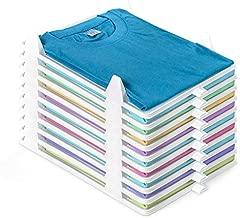 BoxLegend T Shirt Organizer Closet Organizer Clothing Trays - 10 Pack Durable Stackable Shirt Receipt Board Shirt Dividers File Organizer Clothes Organization System