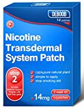 Nicotine Patches Step 2 14mg - Delivered 24 Hours Transdermal System to Stop Smoking Aids That Work,Easy and Effective to Quit Smoking,Harmless Stop Smoking Aid Nicotine Patches,14mg,14 Count