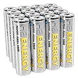 HEITECH AA Akku Mignon 2000 mAh 1,2V NiMH TÜV geprüft 16 Stück - Wiederaufladbare Batterien mit geringer Selbstentladung - Akkus für Geräte mit hohem Stromverbrauch
