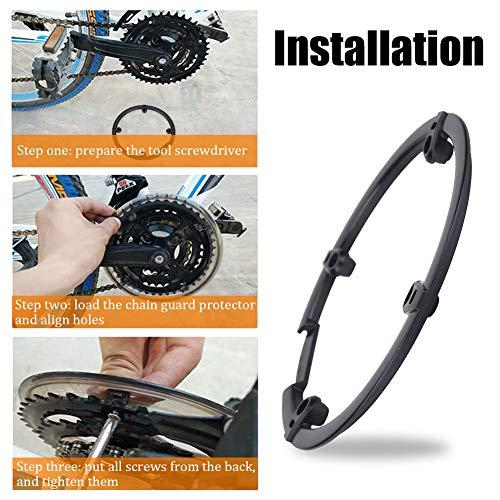 Kettenschutzscheibe Kunststoff Kettenrad Kurbel Abdeckung schwarz für Mountainbike Fahrrad - 4