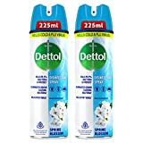 Dettol Disinfectant Sanitizer Spray for Germ Protection on Hard & Soft Surfaces, Spring Blossom, 225ml, Pack of 2