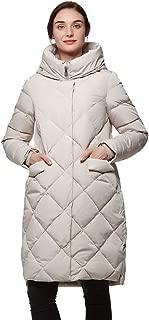 Universo Women's Heavy Duty Thickened Hooded Long Down Coat Winter High Low Hem Parka Puffer Jacket