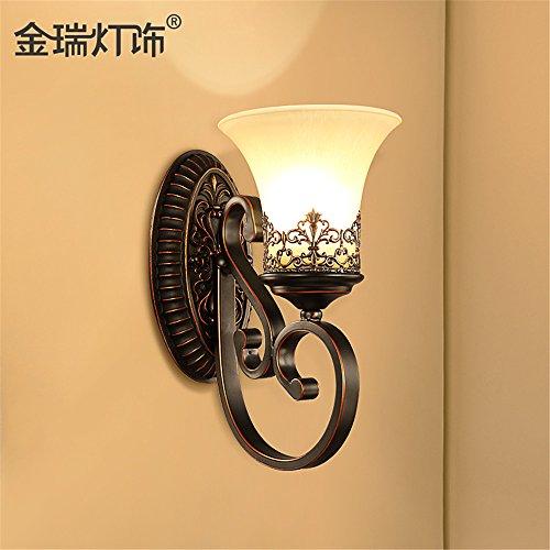 DengWu Wandbeleuchtung Eisen Jugendstil amerikanischen Wandleuchten Schlafzimmer Doppelbett Wohnzimmer Wand Lampen gang Balkon Wandleuchten Beleuchtung