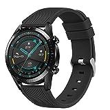 DEOU Correa Compatible con Samsung Galaxy Watch 3 45mm / Galaxy Watch 46mm / Huawei GT 2 46mm,22mm Pulseras de Repuesto Suave Silicona para Samsung Gear S3 Frontier(Negro)