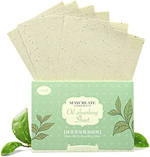 Yiitay 100Pcs Oil Absorbing Tissues Face Oil Blotting Paper for Oily Skin Care or Make Up Natural Blotting Paper for Face - Oil Blotting Sheets for Oily Facial Skin, Acne Prone Skin Daily Use