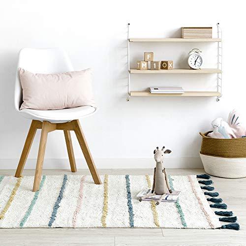 Kenay Home Alfombra Decorativa Infantil Lavable Lines 100X150cm (LargoxAncho), Combinación Colores, 100x150 cm