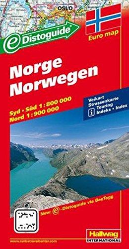 Norge-Norwegen 1:800.000 1:900.000 (Hallwag)