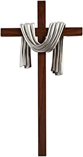 James Brennan Lenten Robe Crosses- Antique Silver Finish, 10 inches