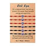 Sincere Evil Eye 7 Knot Bracelet Mal De Ojo Nazar Bracelet Amulet Pack Bad Eye Protection for Women Men Boys Girls Family