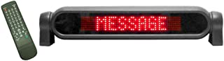 "Pro-Lite Personal Messenger Electronic LED Programmable Advertising Message Display Sign for Indoor Desktops and Car Windows, 12VDC Car Battery Power Input, 3.5"" H x 16.6"" W x 2.6"" D"