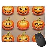 Set de calabazas para Halloween diseños personalizados antideslizante base de goma almohadillas de ratón para juegos, PC, ordenadores.