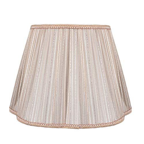 SACYSAC DIY Pantallas de iluminación, lámpara de cabecera del Dormitorio Pantalla de la Tela, lámpara de pie Pantalla, Luz de Lino Color marrón Gasa,36cm