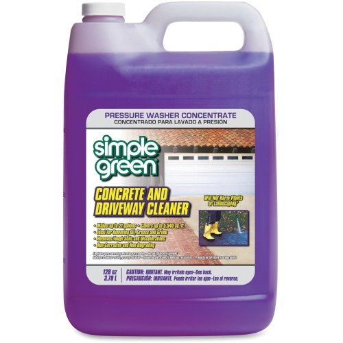 Simple Green Concrete/Driveway Cleaner Concentrate - Liquid Solution - 128 fl oz (4 Quart) - Clear