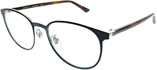 f5a6d4468bd Gucci GG 0293O 004 Blue Metal Round Eyeglasses 52mm