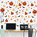 6 Set Reative Halloween Wall Stickers,Funny Pumpkin+Lollipop Translucent Wall Decal for NurserySchool Kids Room Living Room Wall Art Decor