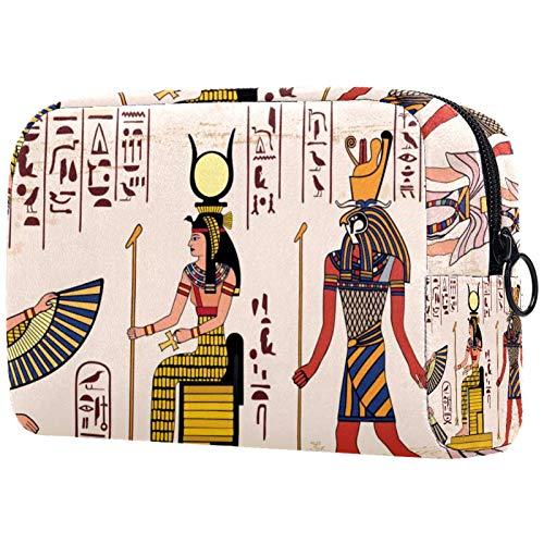 Organizador de Neceser de Maquillaje, pequeño Neceser de Viaje para Mujer, Estuche de Maquillaje, Bolso de Mano, Dibujo Nacional Egipcio