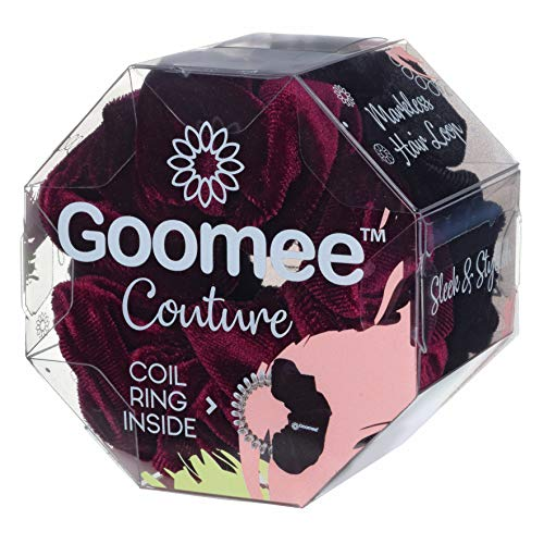 Goomee 2-in-1 Hair Scrunchies and Headbands Set – 2 Velvet Scrunchies for Hair – Dual-Use Design that Converts into Headbands – Easy-to-Remove, No-Pull Hair Ties for All Hair Types