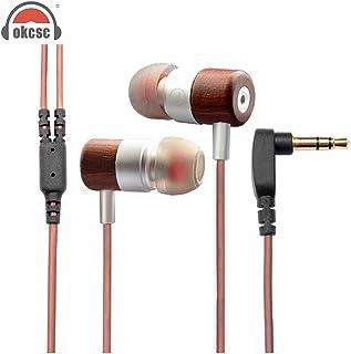 Hybrid Dynamic Headset OKCSC 1BA+1DD HiFi Wooden in Ear Earphone Piston Double Unit Super Bass Earbuds