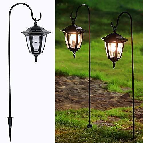 Maggift Luces solares colgantes de 34 pulgadas, farolillos decorativos de jardín con 2 ganchos de pastor, luces solares para autocar,...