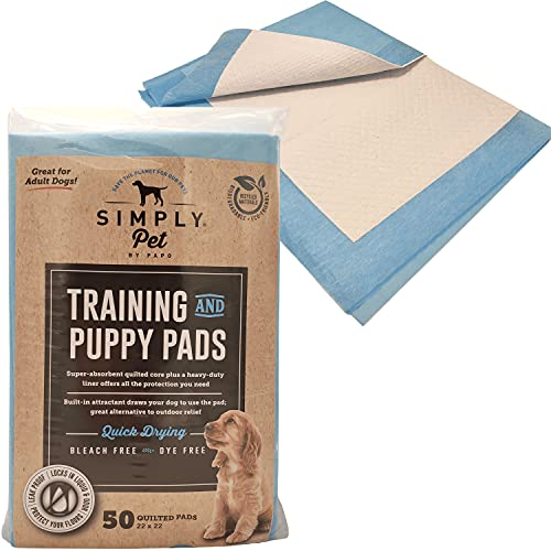 Puppy & Dog Potty Training Pee Pads   50 Pad Pack for Small or Large Dogs & Pets   Disposable 22