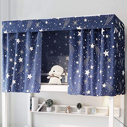 Felice Galaxy Star Bed Canopy Single Sleeper Bunk Bed Curtain Student Dormitory Blackout Cloth Mosquito Nets Bedding Tent 2 Pieces Curtain With 1 Dustproof Top Buy Online In Saint Lucia At Saintlucia Desertcart Com