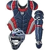 Wilson C1K Catcher's Gear Kit, Navy/Scarlet
