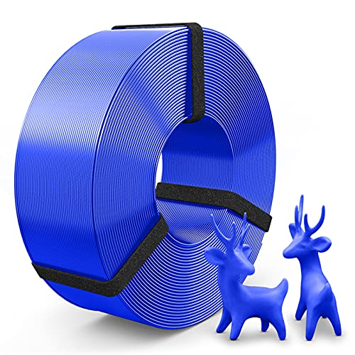 SUNLU Filamento PLA 1.75mm, PLA Filamento Impresora 3D Refill, PLA 1.75 Spool-Less Filamento, Precisión Dimensional +/- 0.02mm, 1kg Spool(2.2lbs), No Spool, PLA Azul