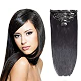 Maahal™ 6Pcs 14 Clips 24-26 Inch Straight Full Head Clip In On Hair