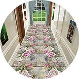 HAIPENG Extra Largo Alfombra Pasillo Alfombras Runner con Antideslizante Soporte, Pila Baja Entrada Alfombra por Salón Escalera Cocina (Color : B, Size : 80x250cm)