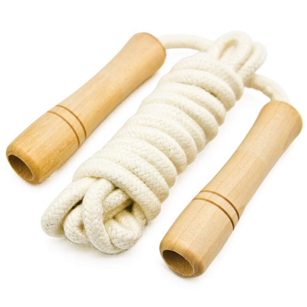 Cuerda de saltar de algodón para niños, mango de madera, cuerda de ...