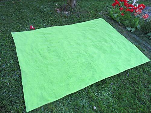 Algodonea Toalla Manta 150x200cm, 100% algodón, 460gr/m2, Fabricada en Portugal. (Verde)