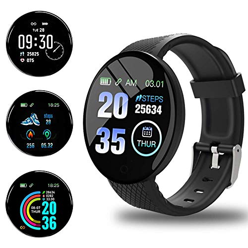 Smartwatch Orologio Fitness Tracker Uomo Donna, Bluetooth Smart Watch Cardiofrequenzimetro da Polso Schermo Colori Orologio Sportivo Calorie Activity Tracker,per uomo donna compatibile iPhone Android