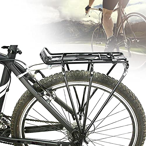 Bike Rack,Bicycle Touring Carrier for Disc Brake Mount Frame-mounted for Heavier Top Side Loads Height Adjustable