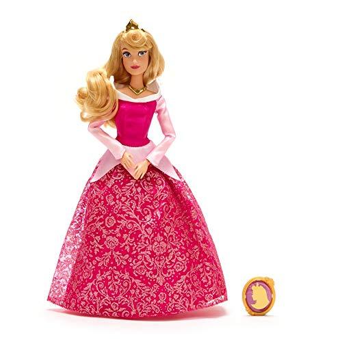 Boneca clássica com pingente da Disney Aurora – Bela Adormecida – 28 cm