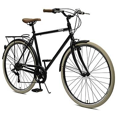 Critical Cycles Beaumont-7 Seven Speed Men's Urban City Commuter Bike; 54cm, Matte Black