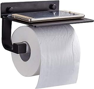 Toiletrolhouder Vierkante Zwart Toiletrolhouder Keuken Rolhouder, Folie Houder Muur Gemonteerde Toiletrolhouder Wc Rollen ...