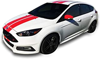 Bubbles Designs Decal Sticker Graphic Front to Back Stripe Kit Compatible with Ford Focus ST RS 3rd Generation