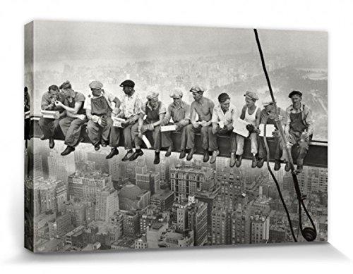 1art1 New York - Mittagspause Auf Einem Wolkenkratzer, 1932 Bilder Leinwand-Bild Auf Keilrahmen | XXL-Wandbild Poster Kunstdruck Als Leinwandbild 120 x 80 cm