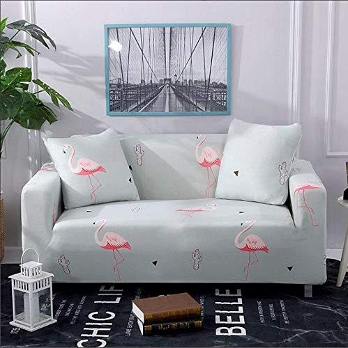 Funda de sofá elástica con Estampado Floral Estilo de línea Fundas de sofá elásticas para Sala de Estar Funda de sofá Funda de sofá seccional A10 1 Plaza