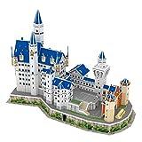 Bingxue 3D Neuschwanstein Castle Puzzles para Adultos y Adolescentes Kits de Modelos de construcción de Arquitectura de Alemania Juguetes de Inteligencia