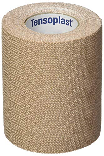 BSN Medical-20186 Tensoplast Elastic Athletic Tape, Provides Medium Support or Compression with High Adhesive Properties, Water Repellent and Air Permeable, Tan, 3' x 5 Yards, Roll