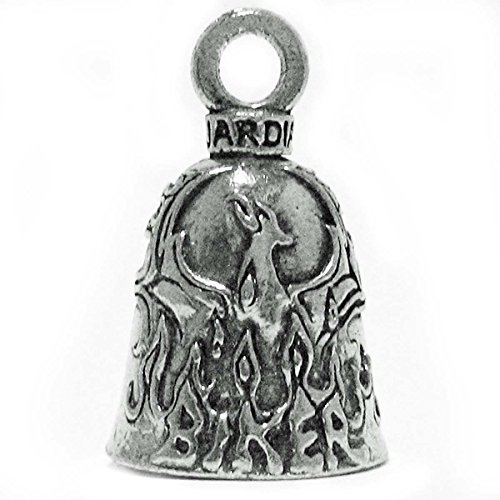 Guardian Bell Guardian Phoenix Greek Mythology Bird Motorcycle Biker Luck Gremlin Riding Bell or Key Ring